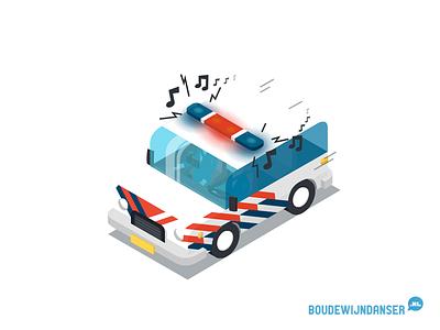 Isometric Police Car dordrecht illustratie isometrie