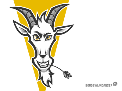Goat Head illustratie ontwerp yellow animal logo goat