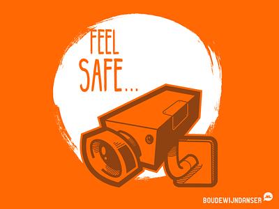 Feel Safe... redbubble shirt nsa feel sage orange privacy camera