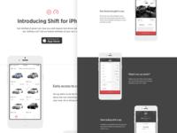 Shift iPhone app