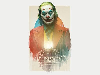Joker art direction retouch double exposure joker