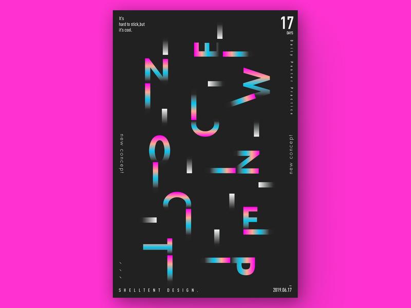 New Concept Style 新概念 未来主义 排版 图形 设计 海报