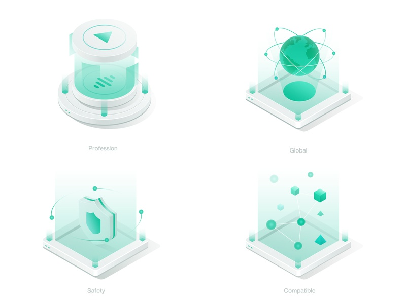 characteristic illustration clean website satety profession global 2.5d web