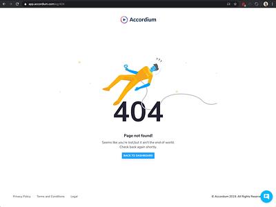 Floating Clean 404 Page branding cute animation design ui illustration pastel minimal simple flat
