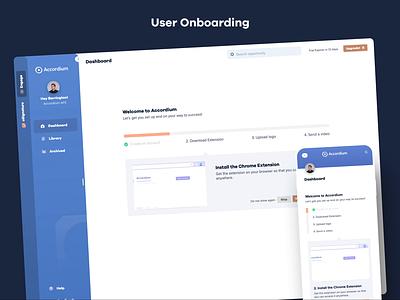 Clean User Onboarding Steps web mobile onboarding dashboard animation design card pastel minimal simple flat