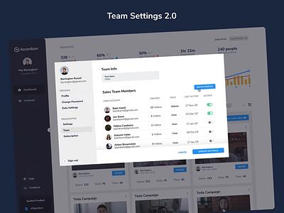 Team Settings & Subscription Page subscription manage team settings modal animation card illustration minimal simple flat