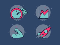 Infographic Cute Icons