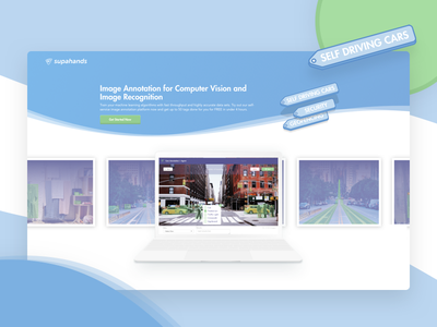 Landing Page - Image Annotation for AIs annotation pastel light ecommerce sketch illustration icons gradient curve geometrical flat tag