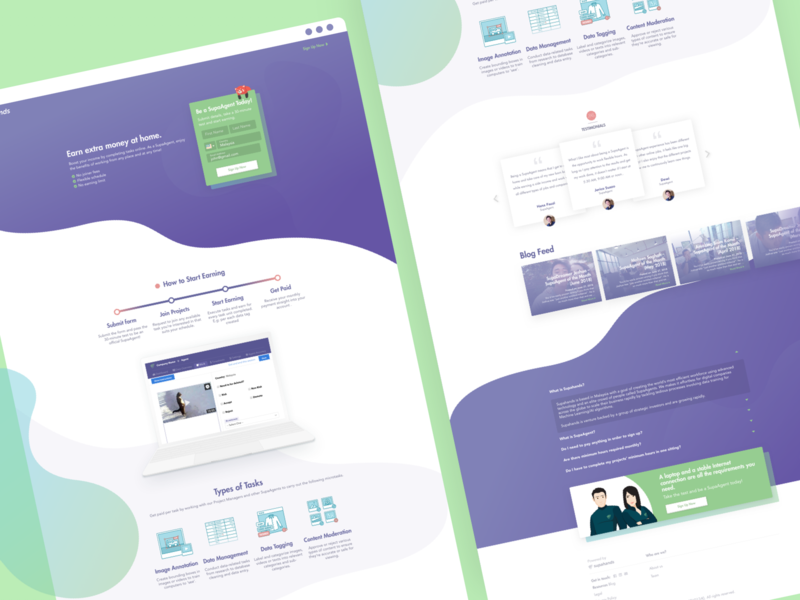 Curvy Landing Page : Revamped SupaAgent Page fresh curve simple ui animation illustration minimal flat