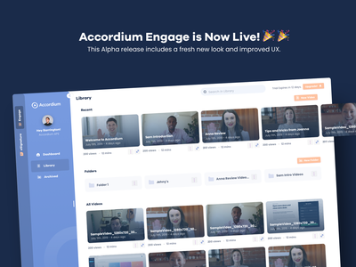 Minimal Rounded Video Dashboard curved video dashboad design ui minimal simple flat