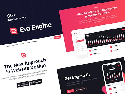 Eva Engine - Website UI Kit web design web website website design ui kit webdesign eva design eva engine