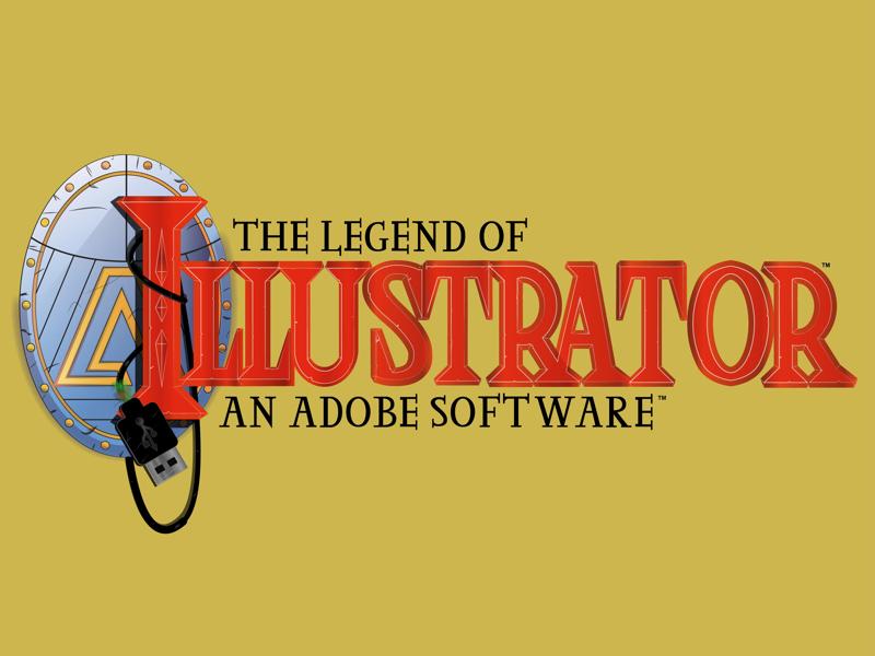 The legend of Illustrator illustration nintendo adobe illustrator zelda