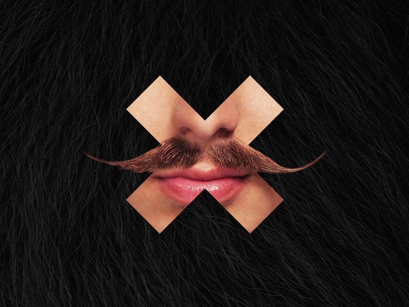 Movember x Delete website photography movember moustache illustration art digital charity campaign