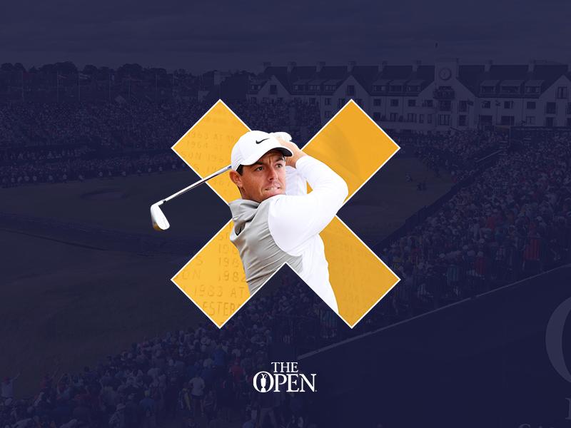 The Open x Delete web design live interface clean the open golf sport ux ui digital case study website