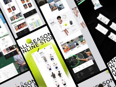ASTA presentation grid minimal landing motion design site fashion shop web ui