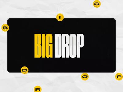 Web site for BigDrop 2 animation grunge layout grid landing motion design site shop web ui