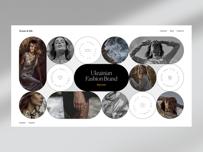 OCEAN & SILK branding photography fashion shop beauty site design web ui