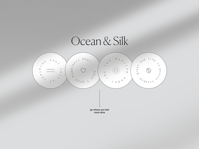OCEAN & SILK web site logo motion fashion beauty design ui