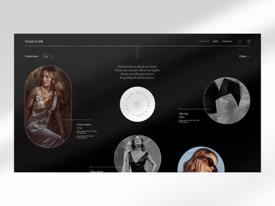 OCEAN & SILK grid branding fashion shop beauty design web