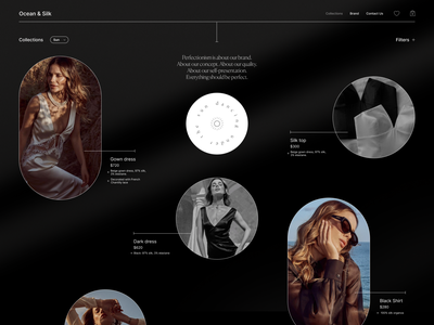 O & S grid branding fashion shop beauty design web