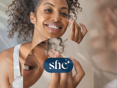 "Cosmetic brand ""She"" logo branding animation motion fashion site beauty design web ui"