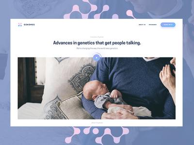 Genomes social  ui  ux pattern minimal logo layout illustration icon grid dna genomes
