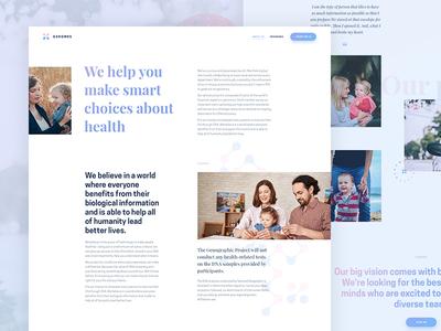 "Genomes ""About"" design genomes ux ui concept web site"