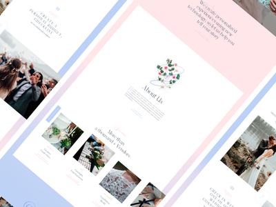 Bouquet web typography photography minimal layout landing grid ui site wedding
