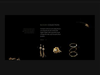 Jewellery shop (part 1) motion photography web fashion design site shop beauty ui