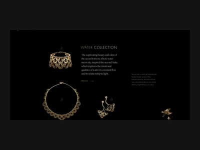Jewellery shop (part 2) jewellery shop photography motion design site shop fashion beauty web ui