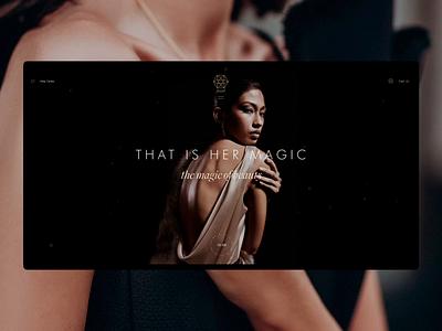 "Jewellery Shop ""Jewel"" landing motion photography design site fashion shop beauty web ui"