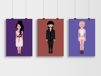 Iconic outfits poster music iconic outfits illustration design celebrities