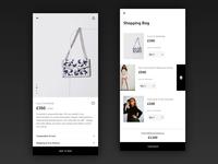 Fashion App fashion app fashion product page checkout