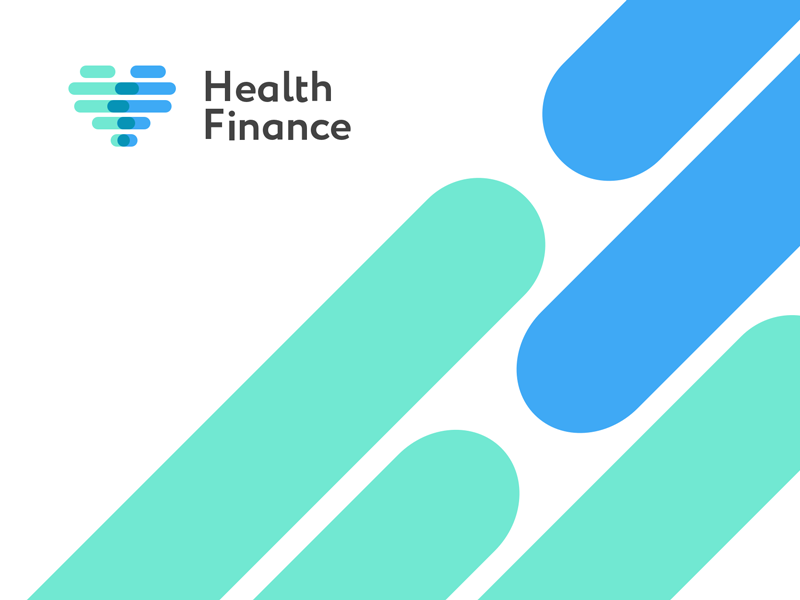 Health.Finance logo loan heart fintech medicine care healthcare finance health