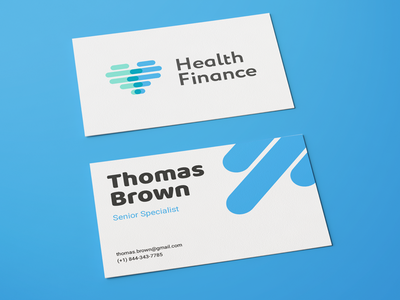 Healthnance business cards by proxima agency dribbble finance business cards colourmoves
