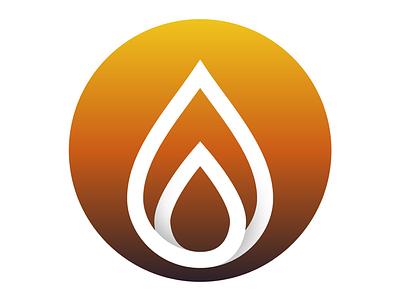 Well-O logo mark logotype gradient logo mark gas oil
