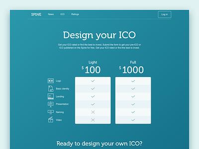 Spine.ws, ICO listing web-site interface web-site bitcoin blockchain crypto ico ui ux