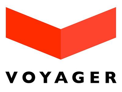 Voyager train logo v voyager train logotype logo