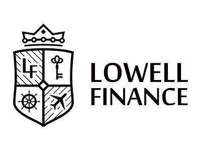 Lowell finance well lowell branding finances fintech identity logo real estate finance