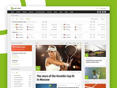 neTennis interface design web-site design agency interaction uxresearch web-design interface design ui ux