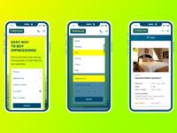 Tursales, responsive web-app design