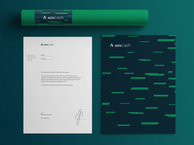 Corporate identity for Advcash wallet crypto bitcoin epayment advcash