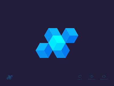 N Letter + Arrows + Cube Concept 1