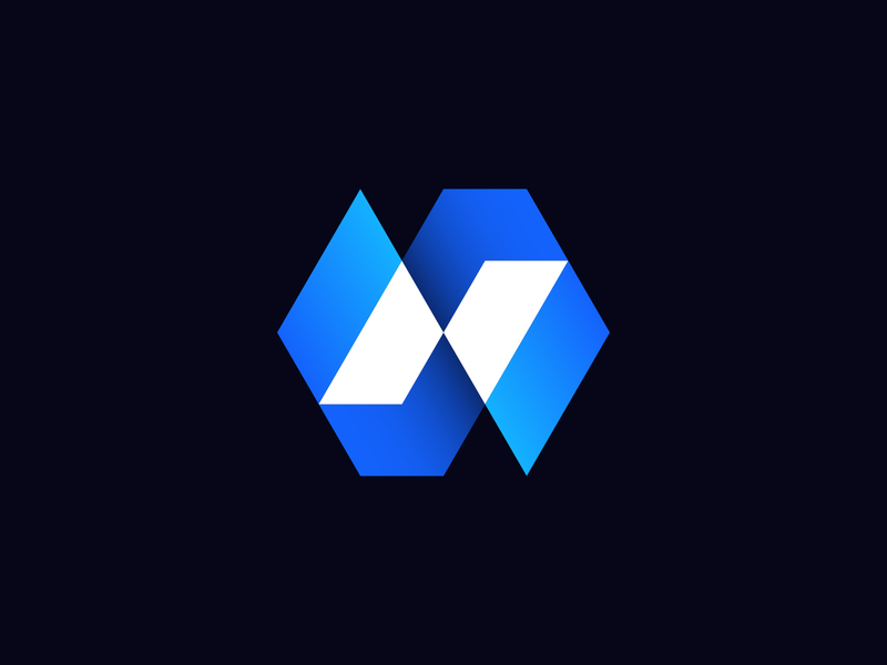 Letter N + Arrows + Slash Logo Concept peak flowchart graph diagram letter n for sale unused identity chrystal gradient hexagon glitch bolt arrow slash coding branding blockchain app icon 3d logo