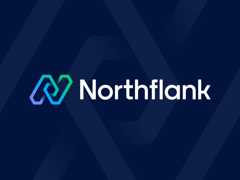 Northflank Final Logo Layout logo branding identity circuit path gradient hexagon deploy app icon blockchain junction wire honeycomb check mark arrow cube 3d letter n lettering