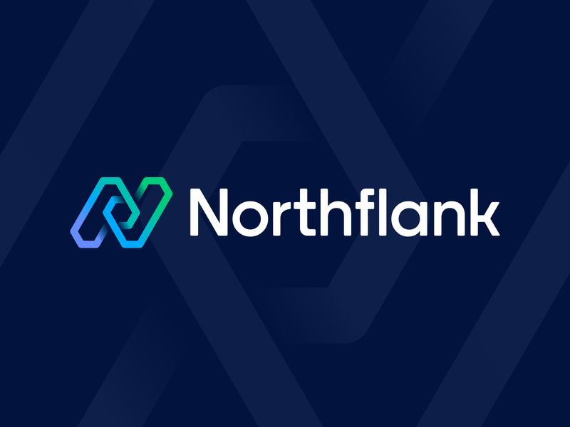 Northflank Final Logo Layout logo branding identity circuit path gradient hexagon deploy app icon blockchain junction wire honeycomb check mark arrow cube 3d letter n lettering