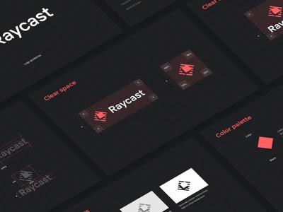 Raycast Logo Design startup tech isometry mark logotype sketches grid light management task typography animation cube rays icon app brandbook identity branding logo