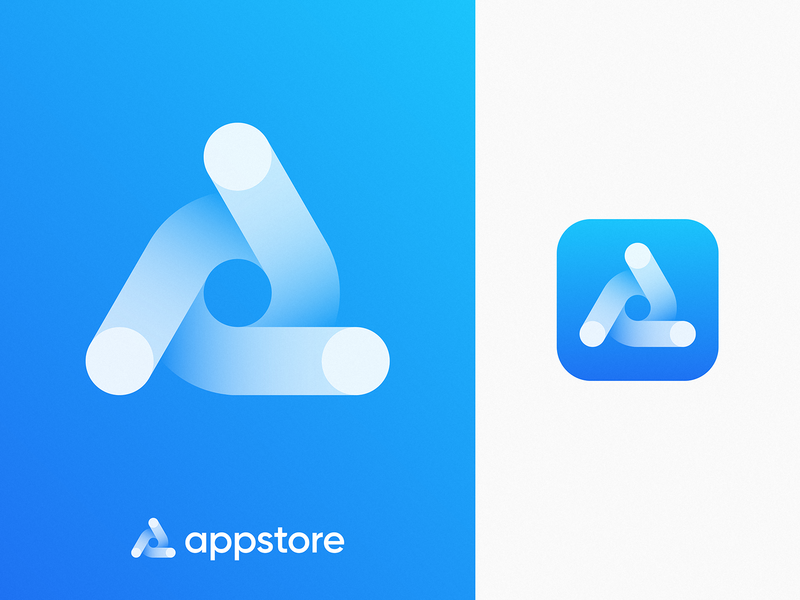 Appstore Icon Redesign Concept junction rebranding galaxy turbine identity letter a triangle dots toggle gradient mobile branding logo ios apple appstore icon app