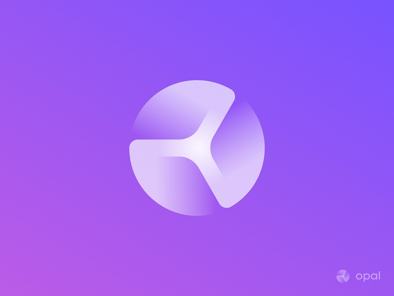 O + Turbine + Hub Logo Concept 3d logo moon planet unused hub turbine gradient identity branding logo