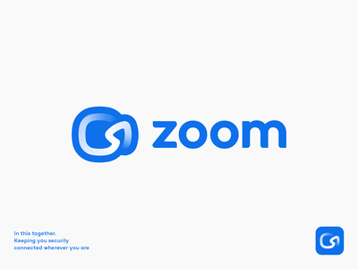 Zoom Logo Redesign Concept design app icon app logo chat gradient connection share rebranding camera arrow conference lettering typography custom icon video logo zoom identity branding logo